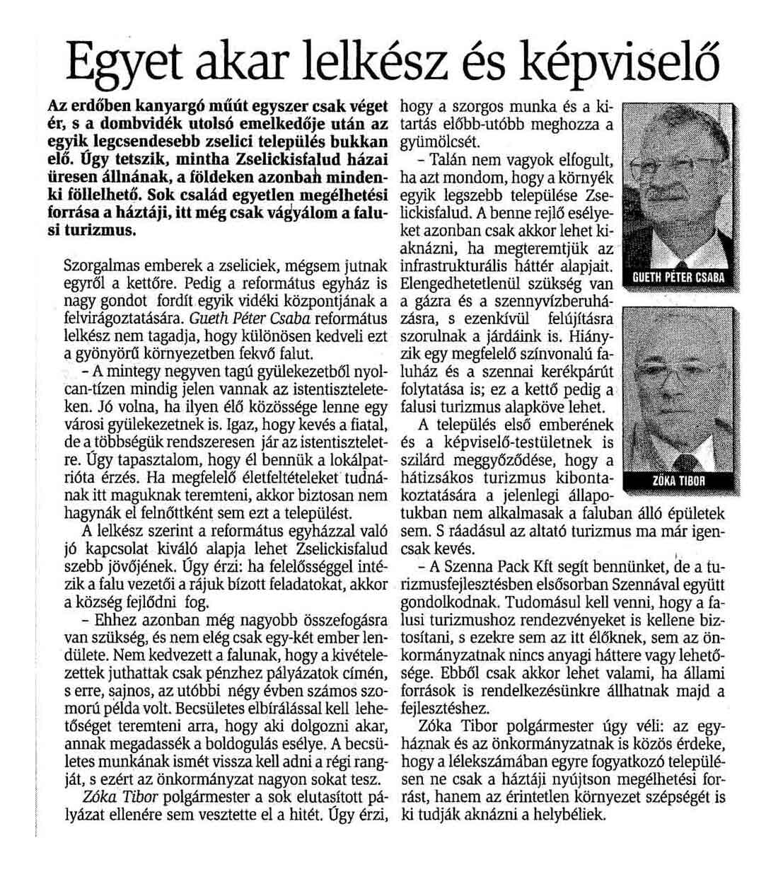 Rólunk írták Zselickisfalud 2002