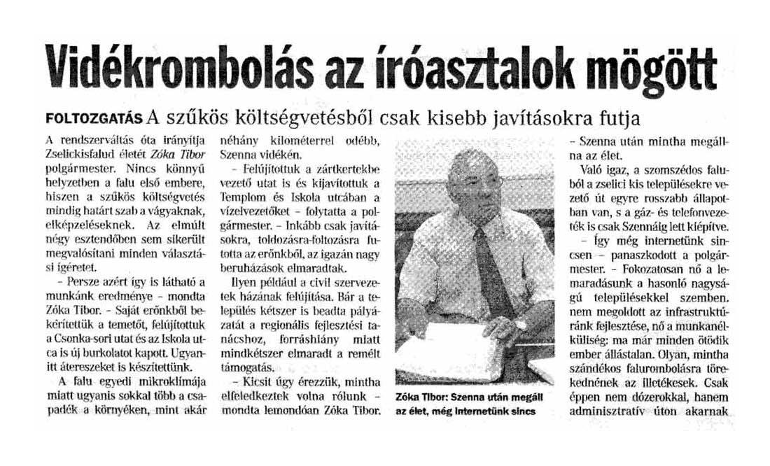 Rólunk írták Zselickisfalud 2006